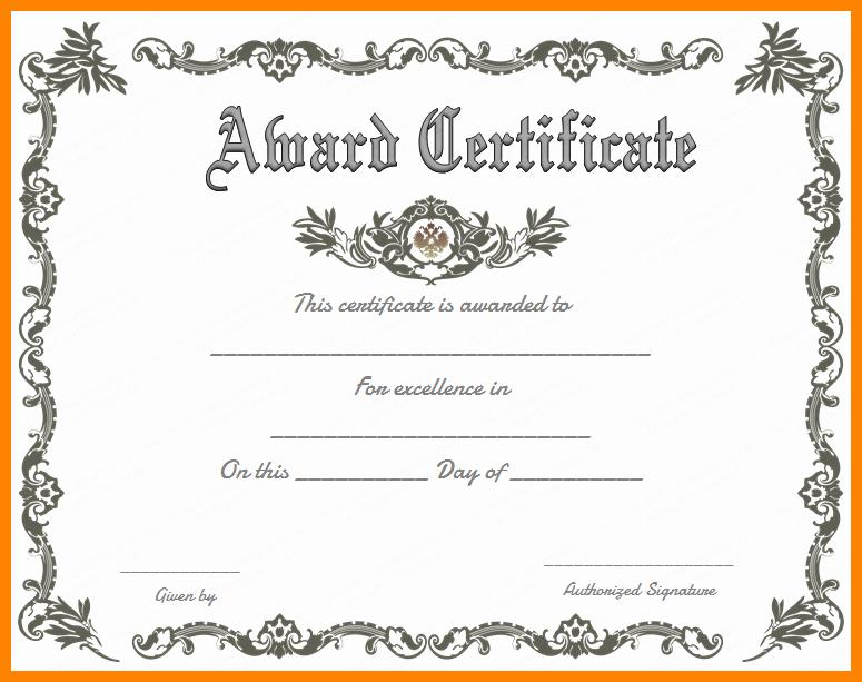 Scholarship Award Certificate Templates Inspirational Certificate Templates 89 Elegant Award Certificates for