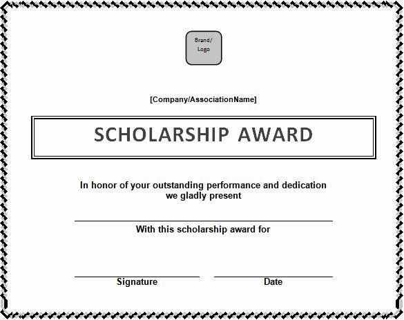 Scholarship Award Certificate Templates Lovely Certificate Template – 41 Free Printable Word Excel Pdf