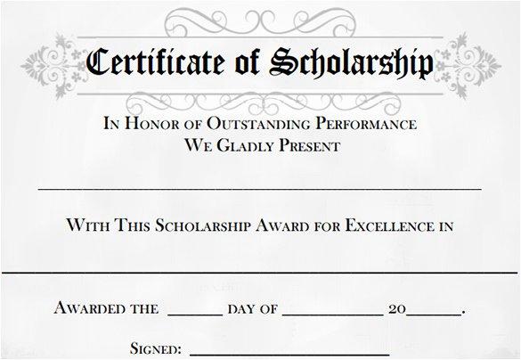 Scholarship Award Certificate Templates Unique Scholarship Award Certificates – Printable Year Calendar