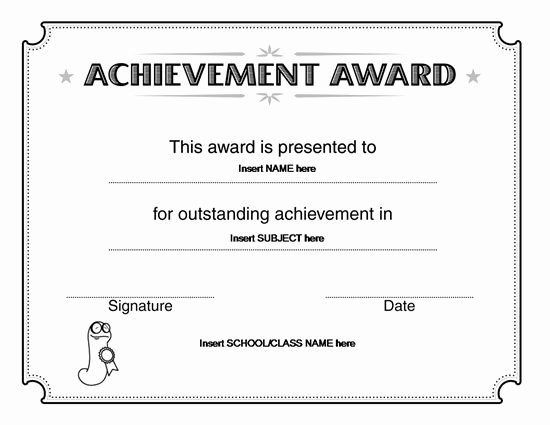 Scholarship Award Certificate Wording Lovely Certificate Template Microsoft Word