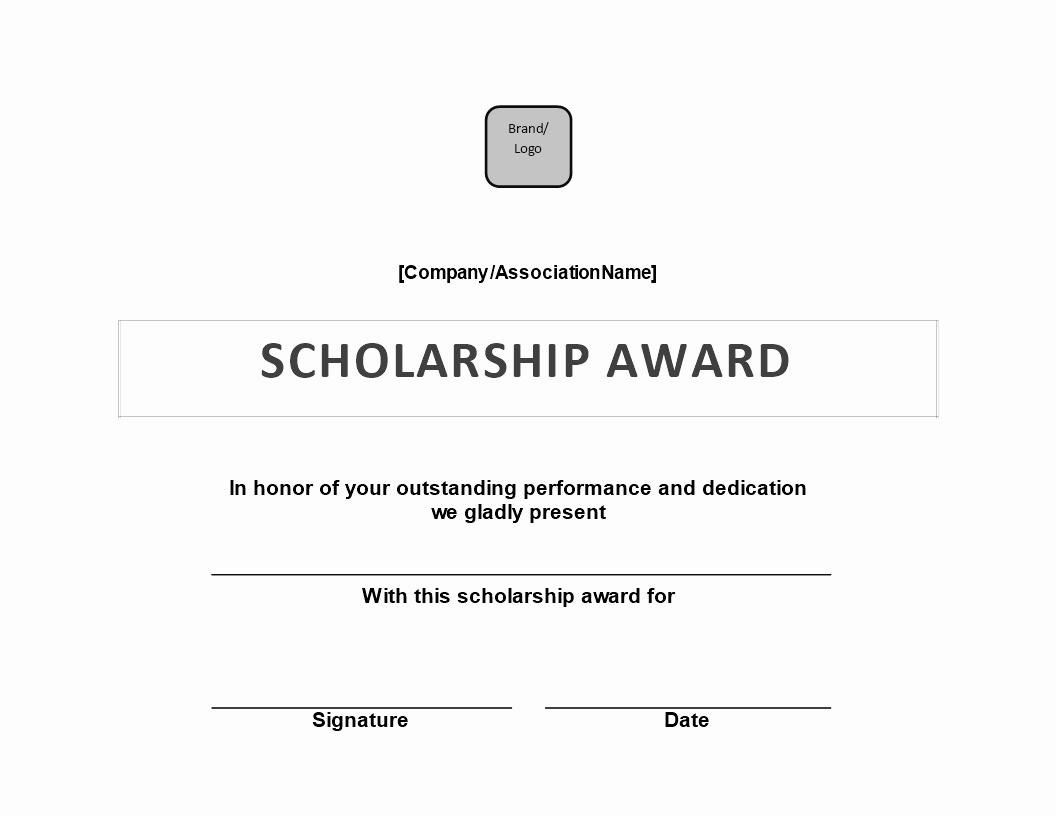 Scholarship Awards Certificates Templates Beautiful Scholarship Award Certificate