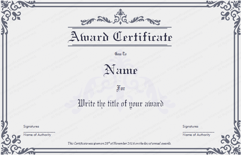 Scholarship Awards Certificates Templates Elegant Dignified Award Certificate Template for Word