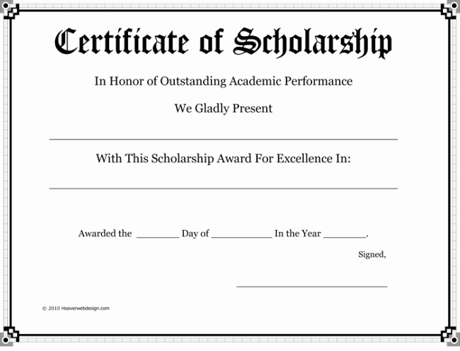 Scholarship Awards Certificates Templates Inspirational 5 Plus Scholarship Award Certificate Examples for Word and Pdf