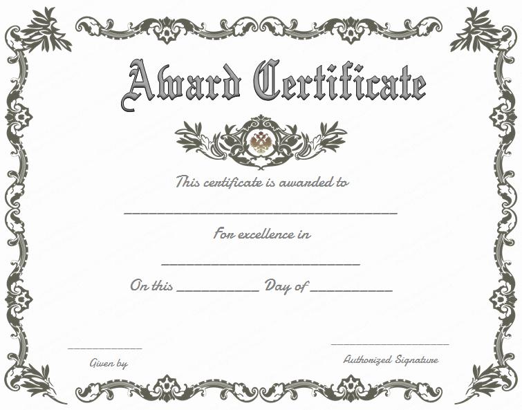 Scholarship Awards Certificates Templates Luxury Royal Award Certificate Template for Word