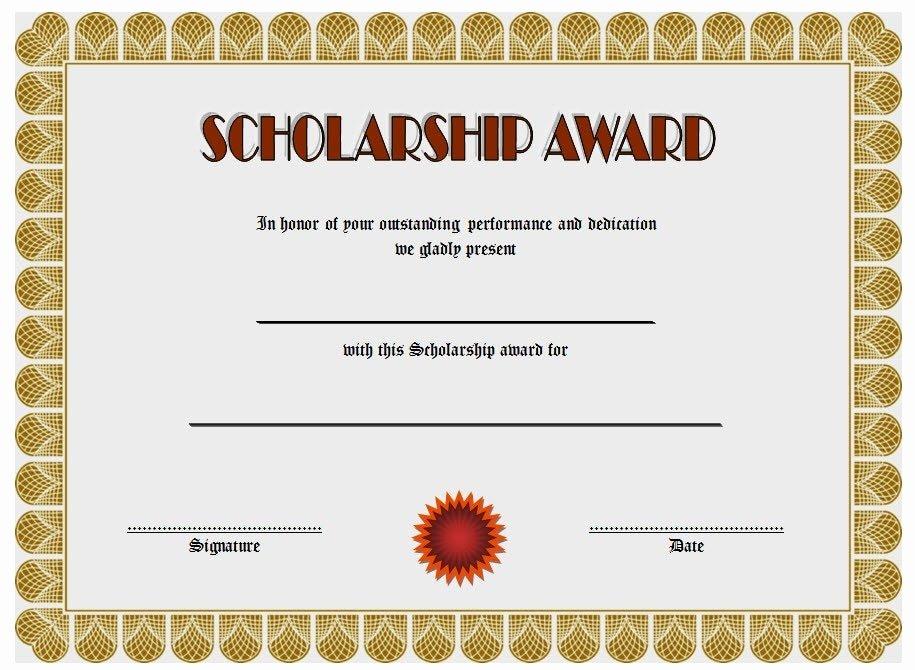 Scholarship Awards Certificates Templates New 10 Scholarship Award Certificate Examples Pdf Psd Ai