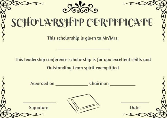 Scholarship Certificate Template for Word Unique 11 Best Scholarship Certificate Template Images On