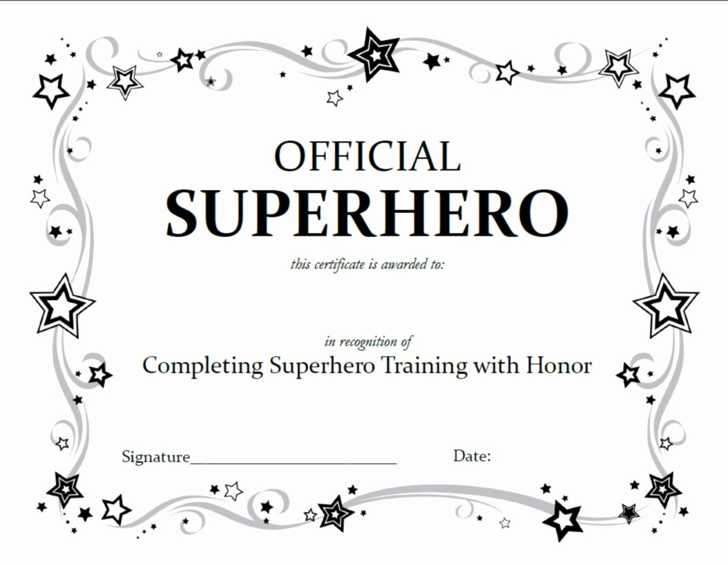 Scholarship Certificate Template Free Best Of Superhero Squad Party Activities A Little Tipsy