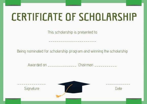 Scholarship Certificate Template Word Elegant Scholarship Award Certificate Template Word