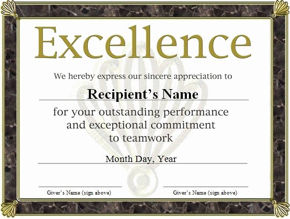 Scholarship Certificate Template Word Luxury Free Funny Award Certificates Templates