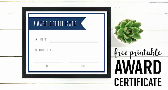 Scholarship Certificate Templates Free Beautiful Free Printable Award Certificate Template Paper Trail Design