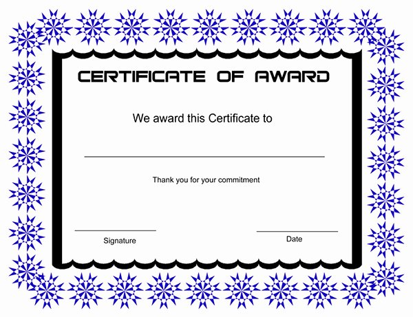 Scholarship Certificate Templates Free Lovely Printable Award Certificate Templates