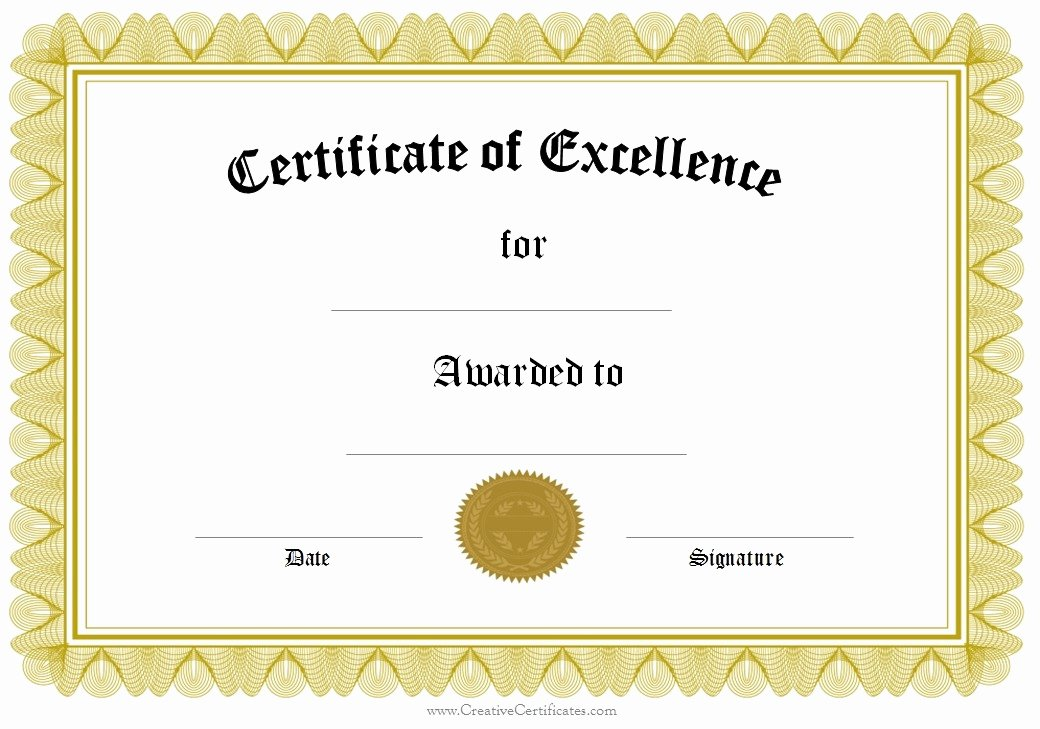 Scholarship Certificates Templates Free Fresh Award Certificate Template Printable Microsoft Word with