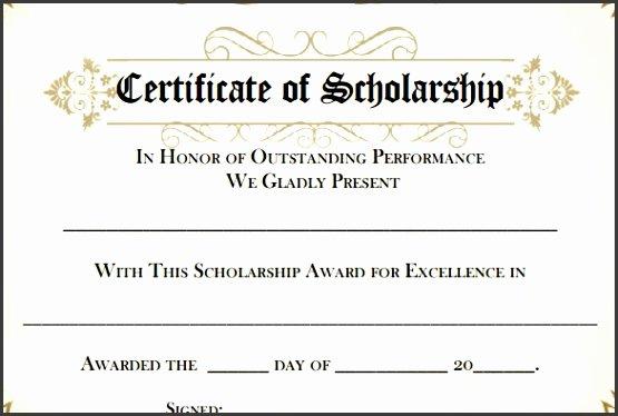 Scholarship Certificates Templates Free Inspirational 9 Award Template In Word Sampletemplatess Sampletemplatess