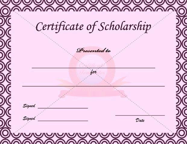Scholarship Certificates Templates Free Inspirational Scholarship Certificate Template