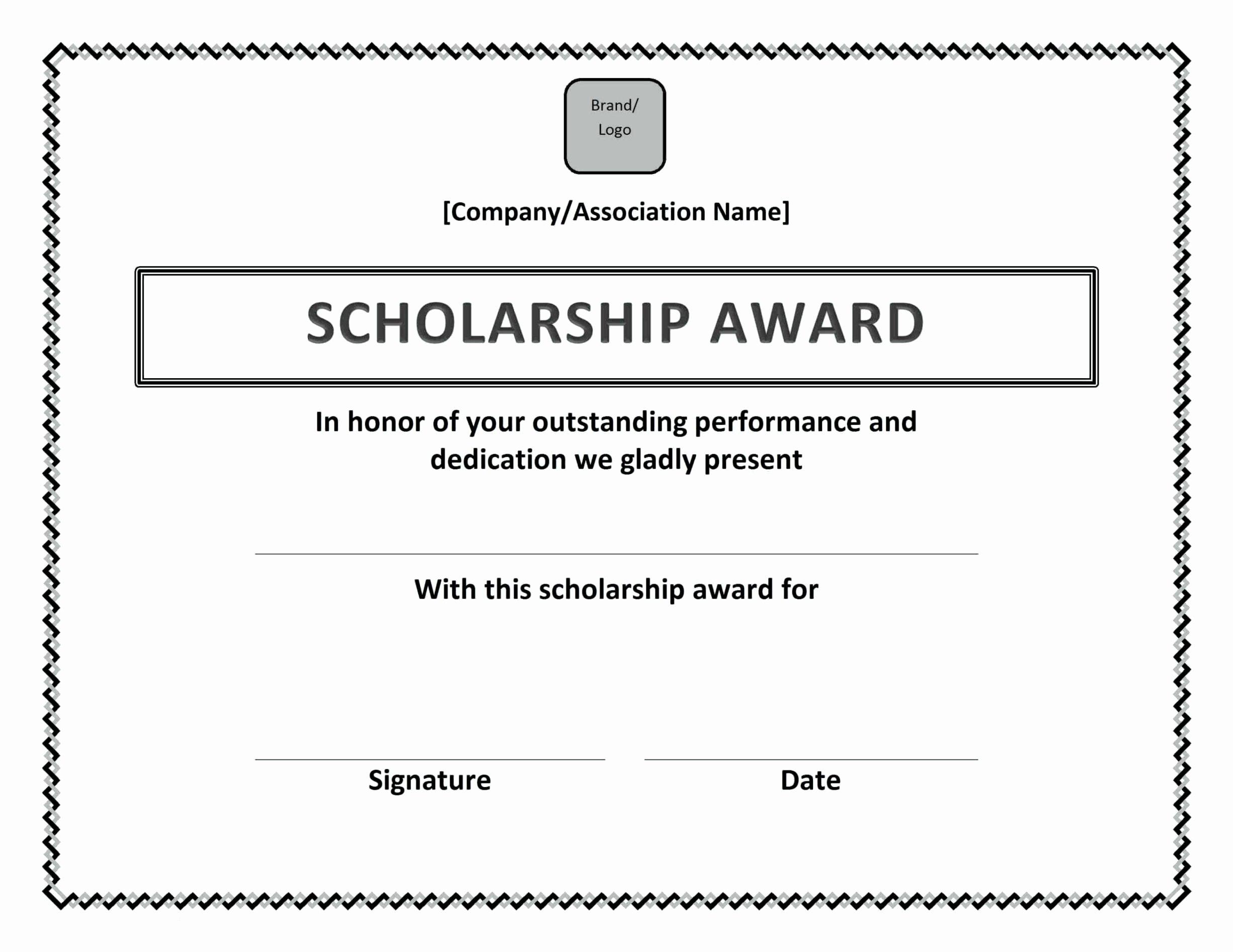 Scholarship Certificates Templates Free Unique Award Certificate Wording Ideas Template Update234