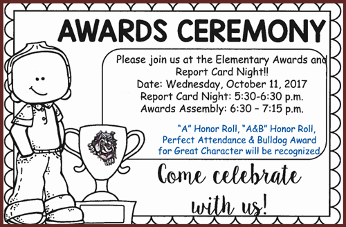 School Award Ceremony Invitation Awesome Awards Ceremony La Pryor Elementary School