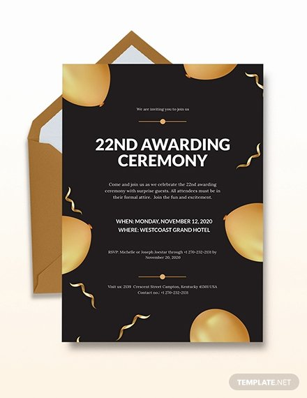 School Award Ceremony Invitation Awesome Free Opening Ceremony Invitation Card Template Download