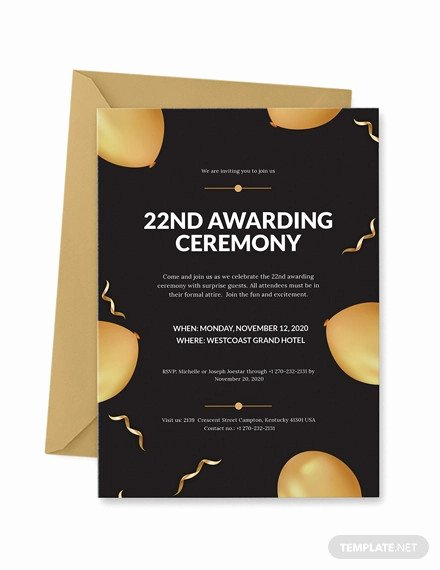 School Award Ceremony Invitation Beautiful 12 Glorious Award Ceremony Invitation Templates Psd Ai