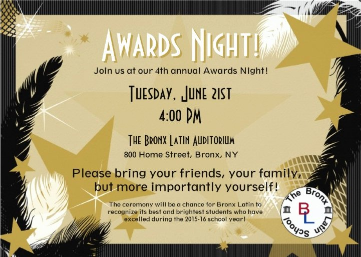 School Awards Ceremony Ideas Elegant Award Ceremony Invite