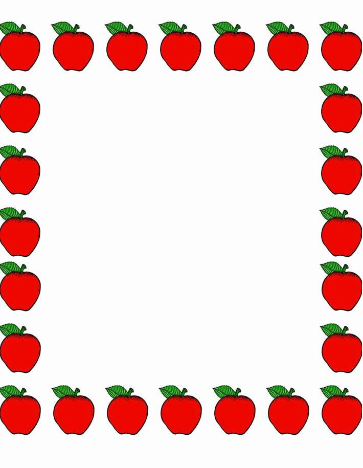 School Borders for Microsoft Word Best Of Apple Border Clip Art Clipartion
