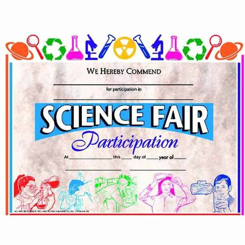 Science Fair Award Certificate New Hayes Science Fair Awards and Incentives Certificate 8 5