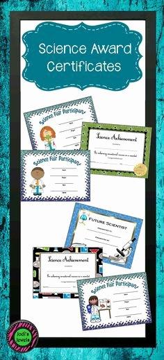 Science Fair Award Certificate New Math Wiz Kid Award