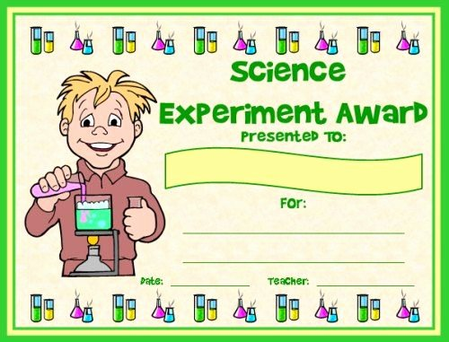 Science Fair Award Certificates Elegant Science Award Certificates