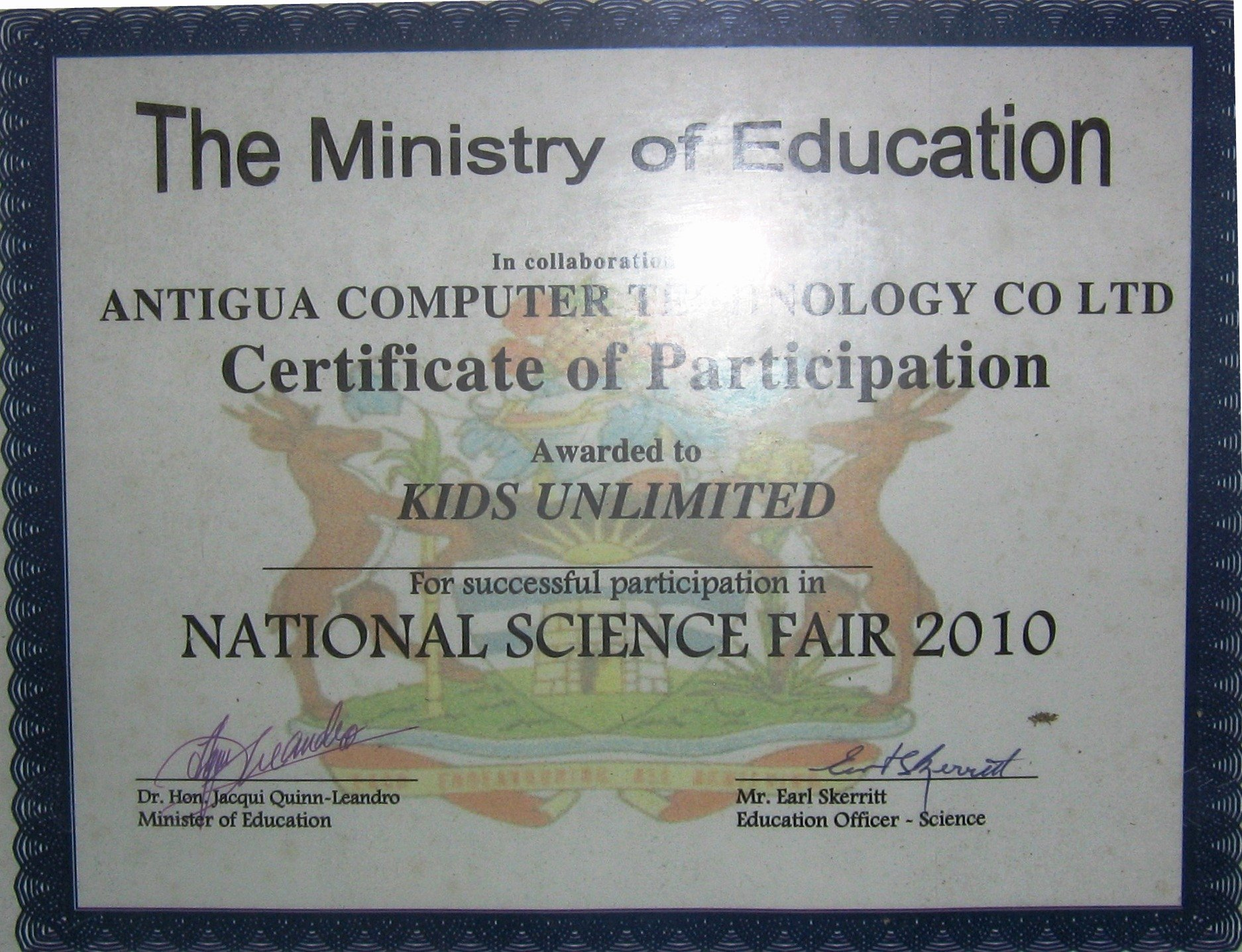 Science Fair Award Certificates Fresh Congratulations Kids Unlimited School