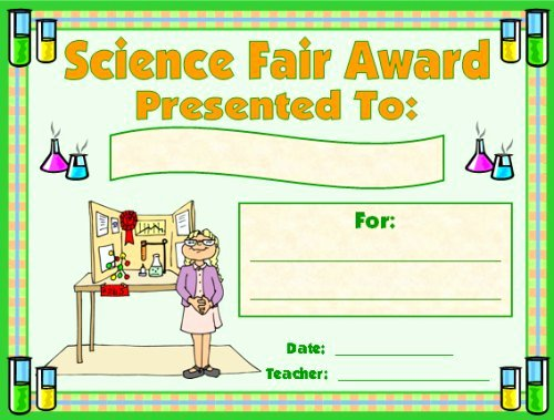 Science Fair Award Certificates Fresh Science Award Certificates