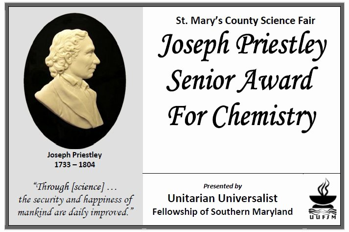 Science Fair Award Certificates Lovely 2014 Joseph Priestley Awards for Science Fair