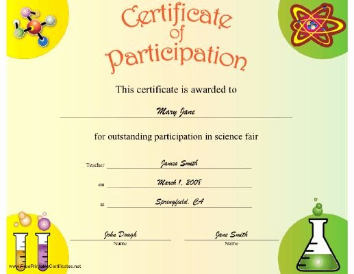 Science Fair Award Certificates Luxury 15 Best Art Award Certificates Images On Pinterest