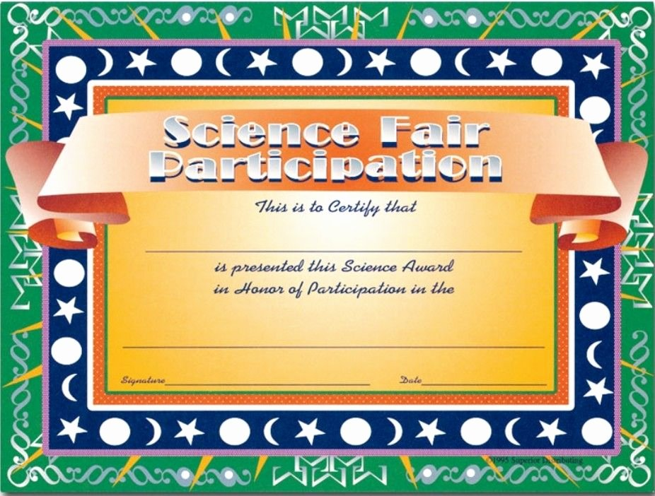 Science Fair Award Certificates Luxury Science Fair Certificates Education Science