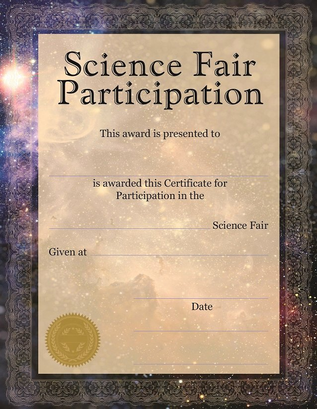 Science Fair Awards Certificates Elegant Educational Products Inc 1 800 365 5345