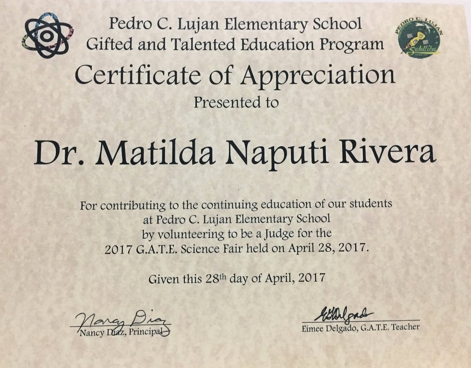 Science Fair Awards Certificates Elegant Reflective Journey In the Pacific Pc Lujan G A T E