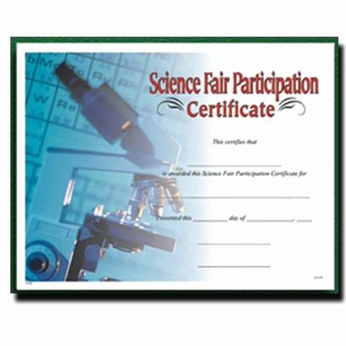 Science Fair Awards Certificates Fresh Fill In the Blank Certificates