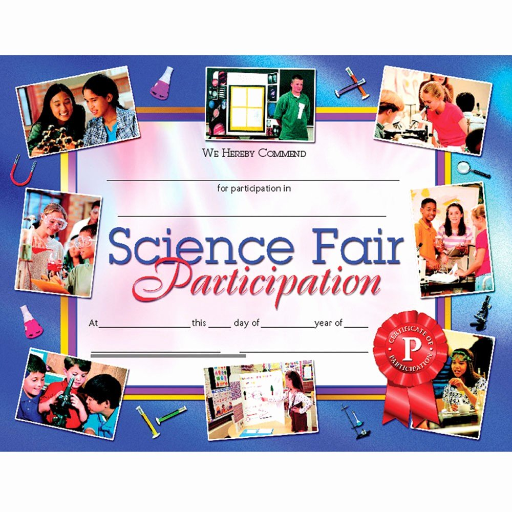 Science Fair Awards Certificates Inspirational Science Fair Participation 30pk 8 5 X 11 Certificates