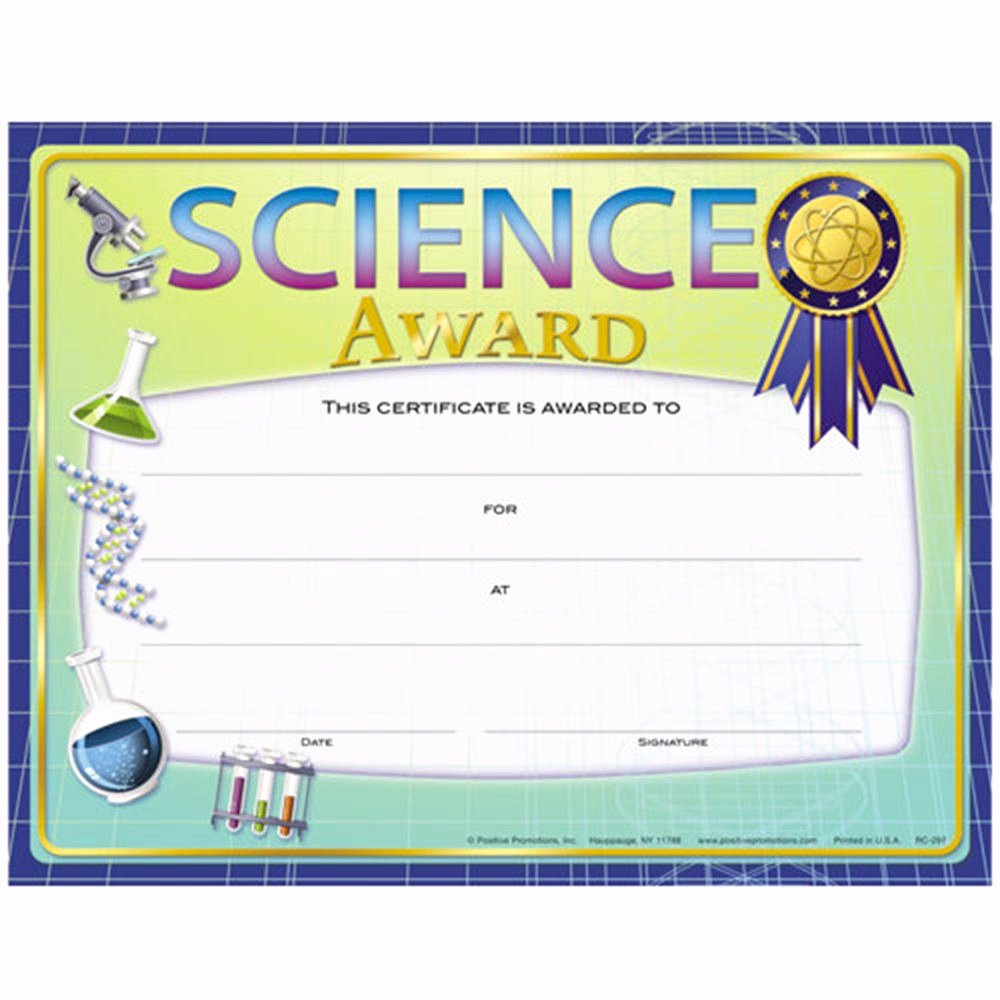 Science Fair Awards Certificates Lovely Science Award Foil Stamped Certificates Stem