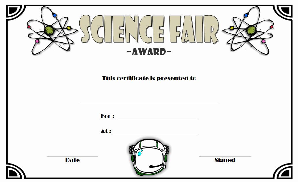 Science Fair Certificate Template Elegant Certificate Templates Certificate Templates Science Fair