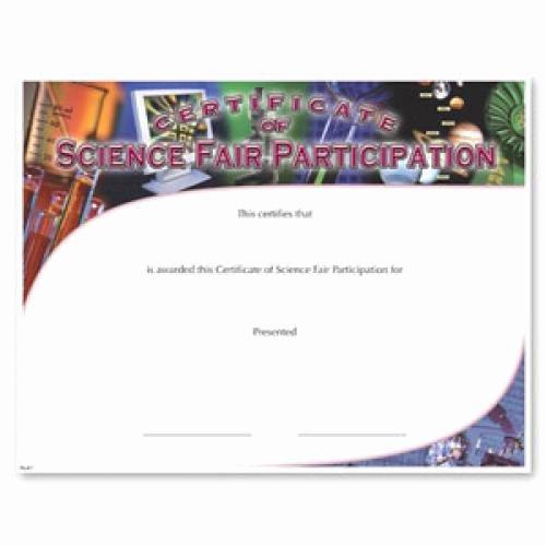 Science Fair Certificate Template Elegant Fill In the Blank Certificates