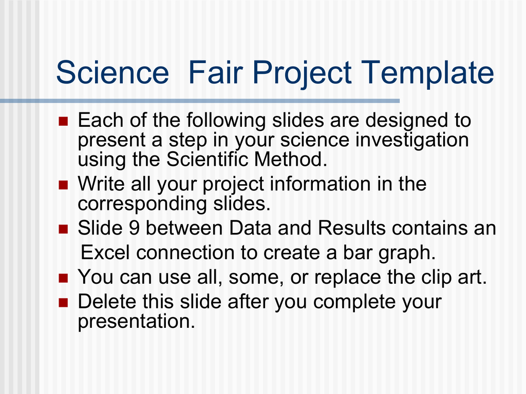 Science Fair Certificate Template Inspirational Science Fair Project Template