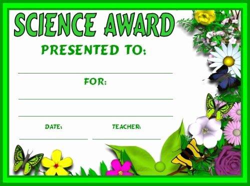 Science Fair Certificate Template New Science Award Certificates School Units