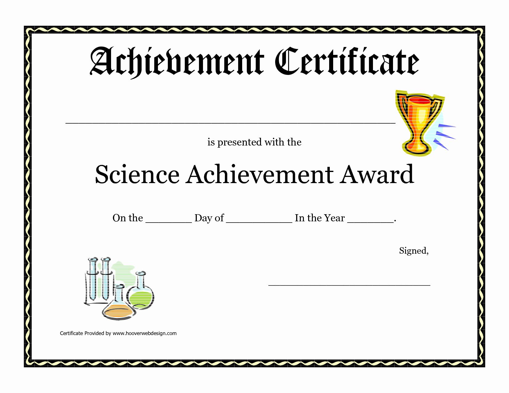 Science Fair Certificate Template Unique Science Fair Award Certificate Award Certificate Download