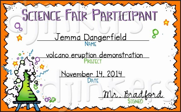 Science Fair Certificates Of Participation Luxury Award Certificates Clip Art Printables and Reminders for