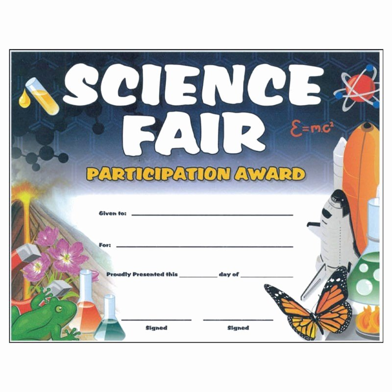 Science Fair Certificates Of Participation Pdf Awesome Science Certificates Rocket Certificates Science