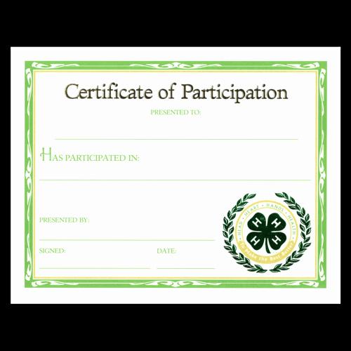 Science Fair Certificates Of Participation Pdf Best Of Participation Certificate