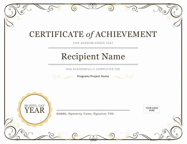 Science Olympiad Certificate Template Elegant Certificate Of Achievement