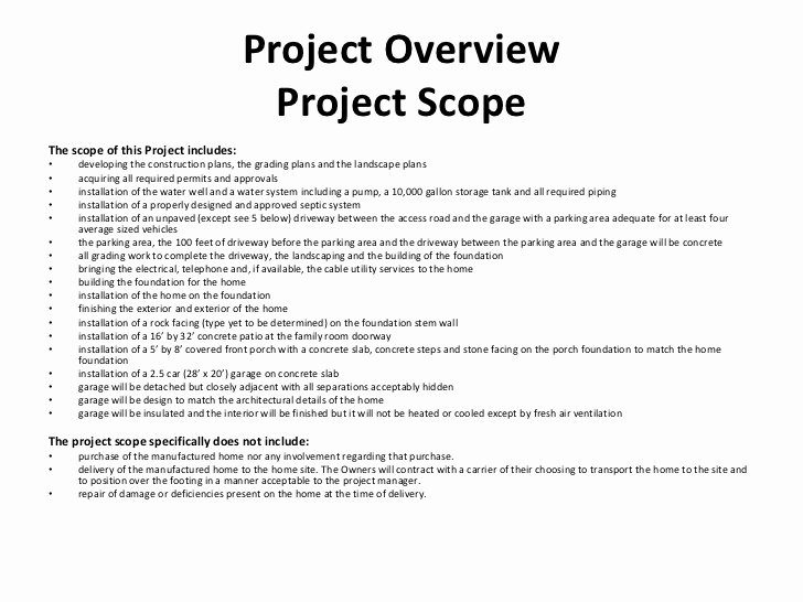 Scope Of Work Sample for Construction Lovely Construction Project Management Class Project Presentation