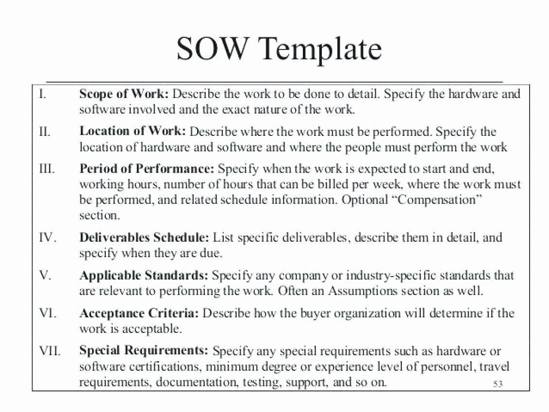 Scope Of Work Sample for Construction New 10 Scope Of Works Construction Template