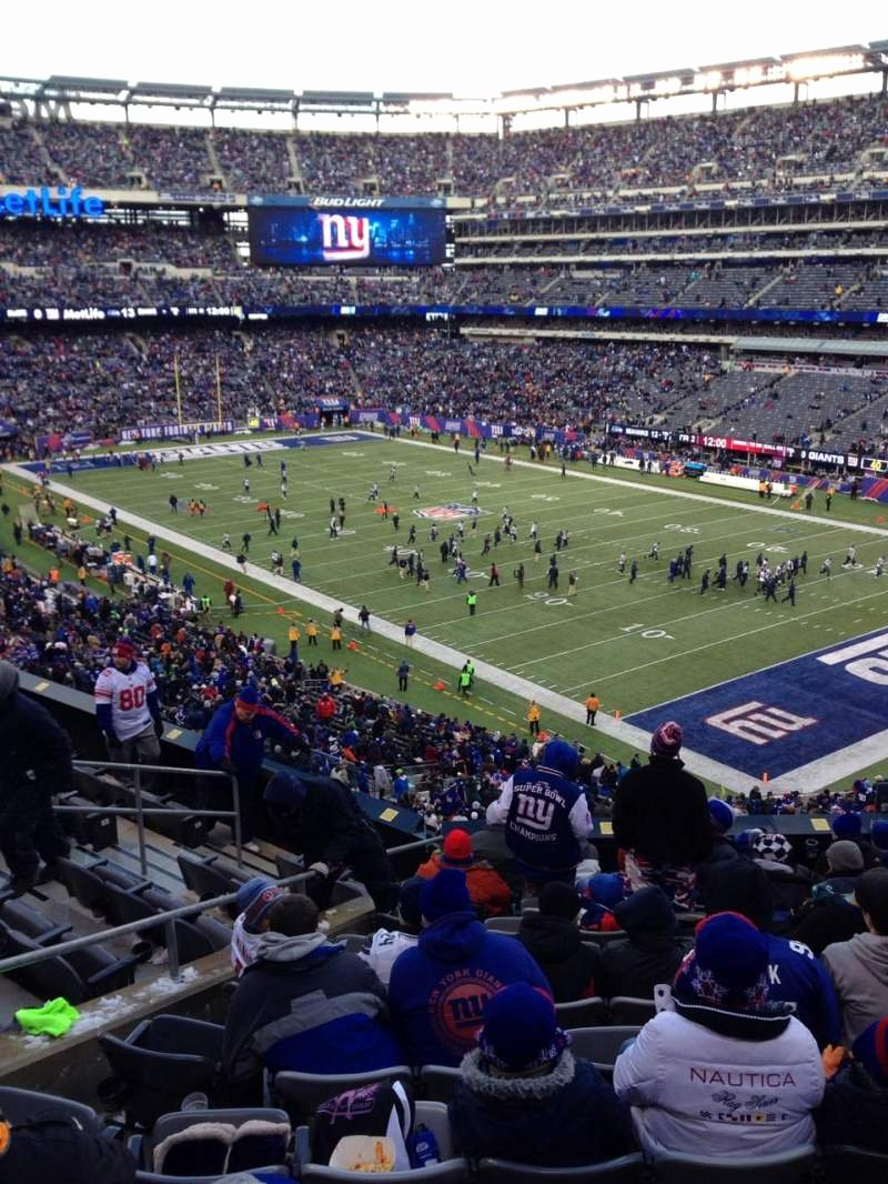 Seahawks Stadium Seat View Awesome Metlife Stadium Section 232a Row 11 Seat 9 New York