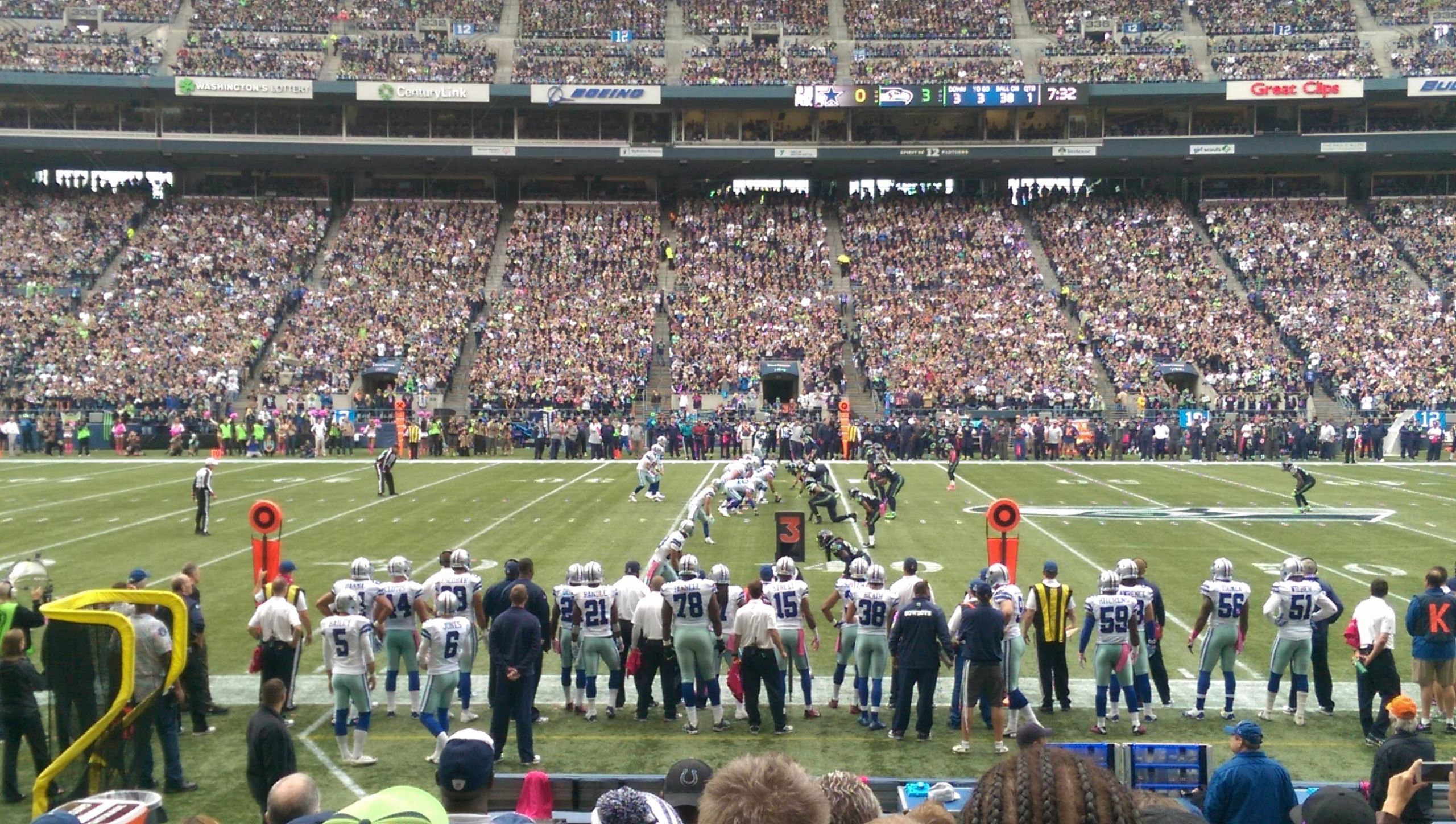 Seahawks Stadium Seat View Elegant Centurylink Field Section 110 Seattle Seahawks